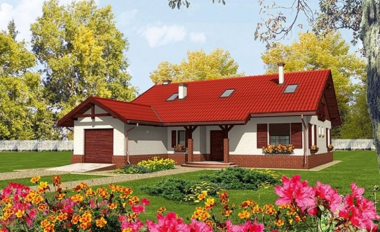 Casa in forma de L cu garaj