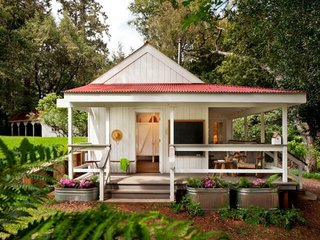 Casa fara fundatie cu terasa acoperita