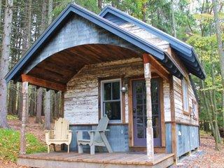 Casa mica din lemn cu fronton