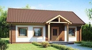 Casa parter din lemn si OSB suprafata 110 mp