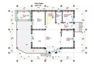 Plan casa osb doar cu parter suprafata 155 mp