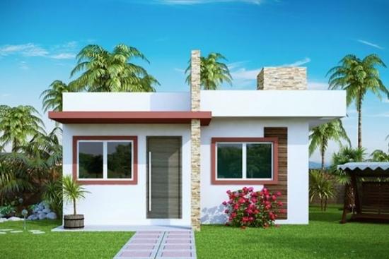 Casa mica moderna cu acoperis drept