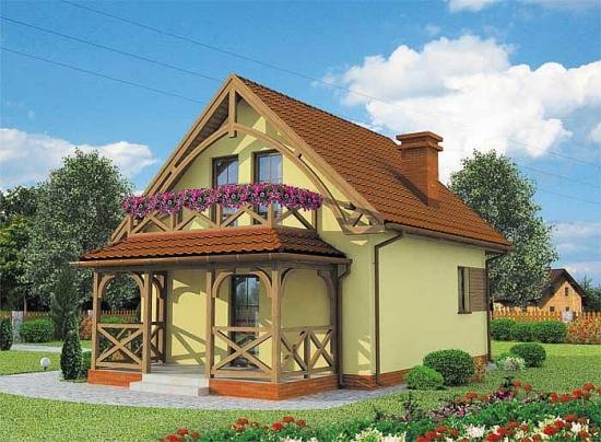1 Proiect casa mica cu mansarda fara veluxuri