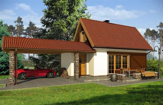 4 Casa cu mansarda 40 mp cu carport