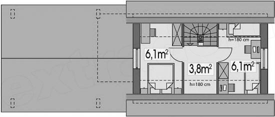 4 Distributie camere mansarda casa de 50 mp