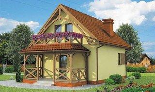 Casa mica pe structura de lemn