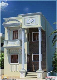 Casa cu arhitectura cu stalpi si arcade