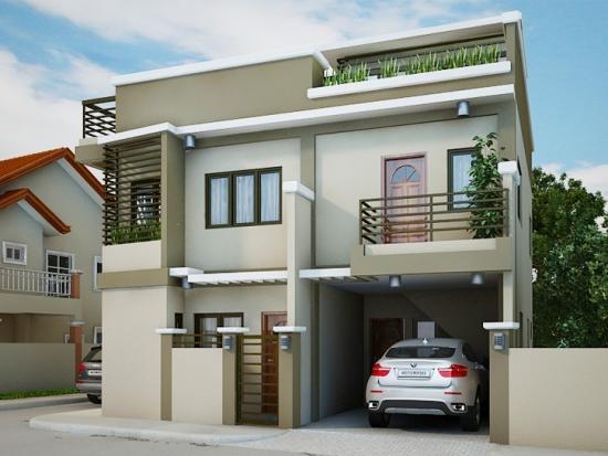 Model de casa cu acoperis plat