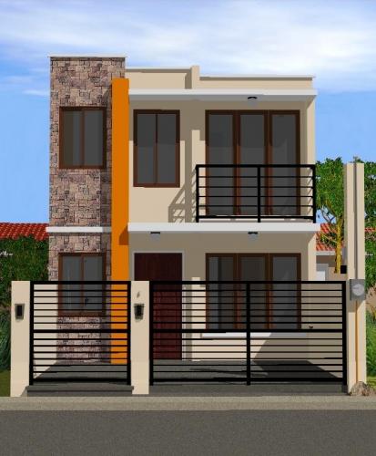 Schita casa pe teren ingust
