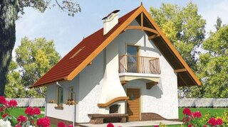 Casa mica cu mansarda si suprafata utila de 73 mp