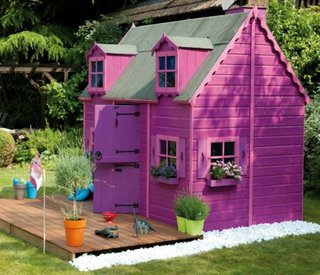 Casuta exterior  pentru copii culoarea violet