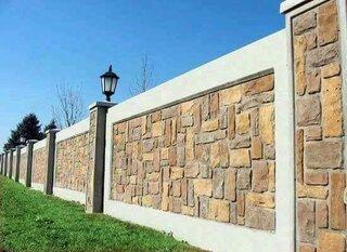 Gard din piatra naturala mare