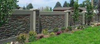 Gard modern din piatra gri