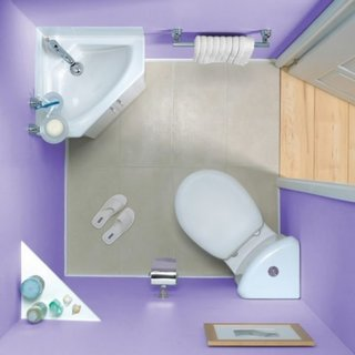 Schema asezare obiecte sanitare in baie mica