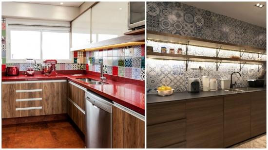 Combinatii coloristice de faianta pentru zona de lucru din bucatarie