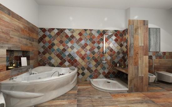 Culori de pamant pentru amenajare baie
