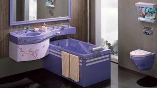 Obiecte sanitare baie culoare mov