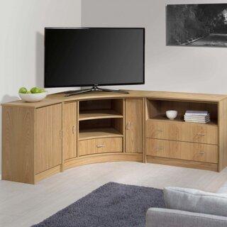 Comoda pentru televizor din lemn pe colt