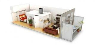 Schita transformare garsoniera in apartament cu 2 camere