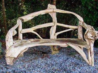 Banca rustica din lemn