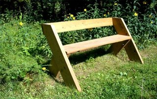 Banca simpla din lemn