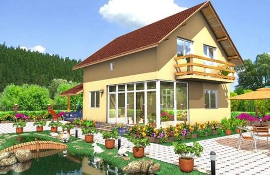 Casa cu mansarda potrivita pemntru terenuri inguste