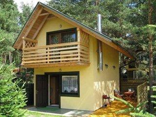 Casa mica pe structura de lemn pe teren ingust