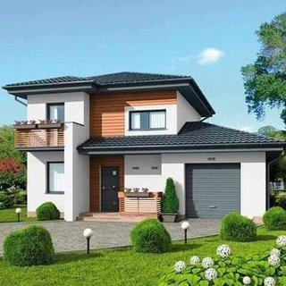 Model casa moderna cu latime mica