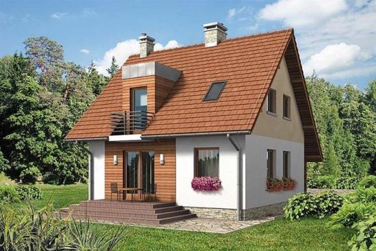 Model de casa pentru teren cu deschidere mica