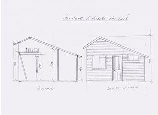 Planuri si schite constructie casuta de  gradina din lemn