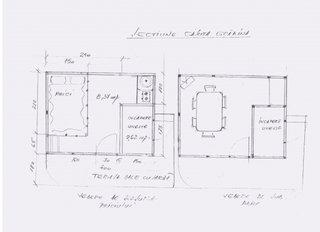Schita sectiune interior casuta de gradina
