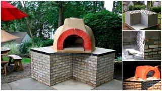 Etape constructie cuptor pizza pe lemne pentru gradina