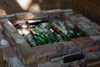 Izolare cu sticla pentru baza cuptor
