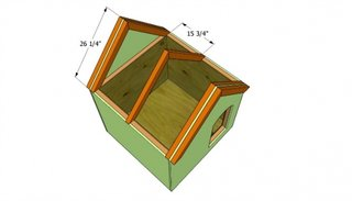 Constructie acoperis cusca caine