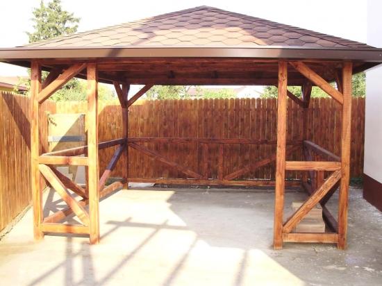 Foisor lemn rustic