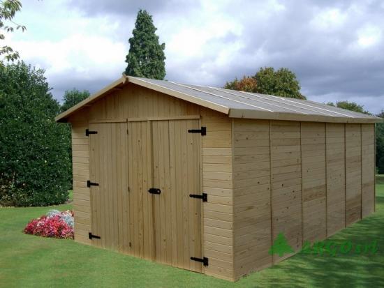 Construire garaj ieftin din lemn pas cu pas