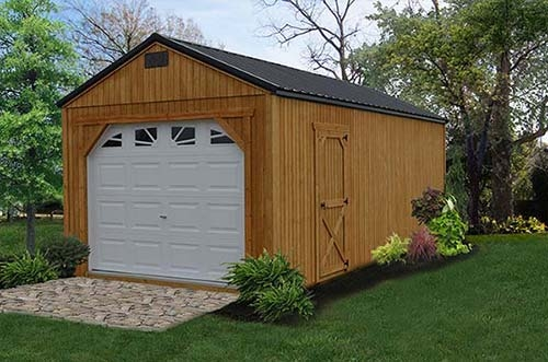 Garaj din lemn ieftin