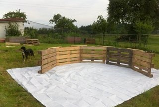 Paleti din lemn pentru piscina