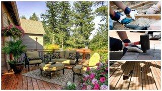 Etape constructie terasa din lemn pentru curte