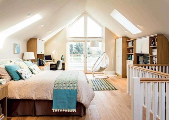 Dormitor luminos mansarda