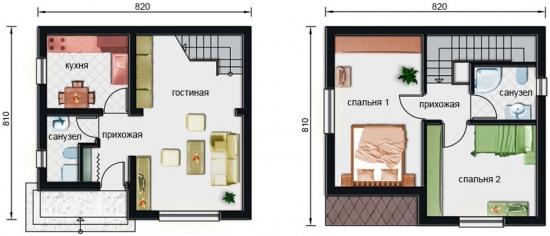 Plan casa P+M