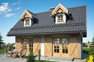 Casa cu acoperis in 2 ape