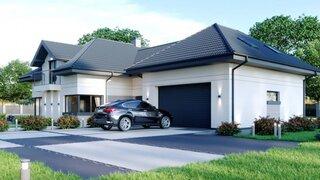 Casa cu etaj si garaj incorporat