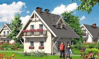 Casa mica cu acoperis in 2 ape