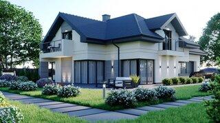 Casa moderna pe doua nivele