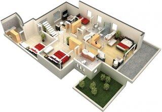 Compartimentare casa mare cu etaj