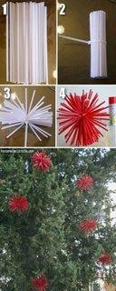 Decoratiune de Craciun stea din paie de plastic