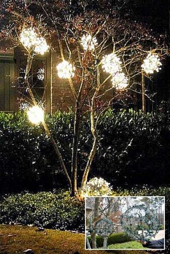 Ornamente handmade din sarma si lumini