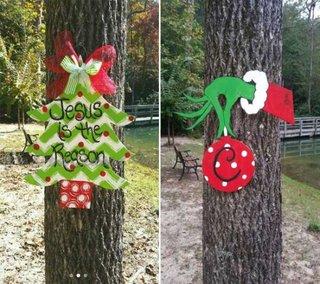 Ornamente pentru copacii din gradina