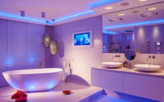 Corpuri de iluminat cu LED pentru baie | Idei de design pentru bai moderne